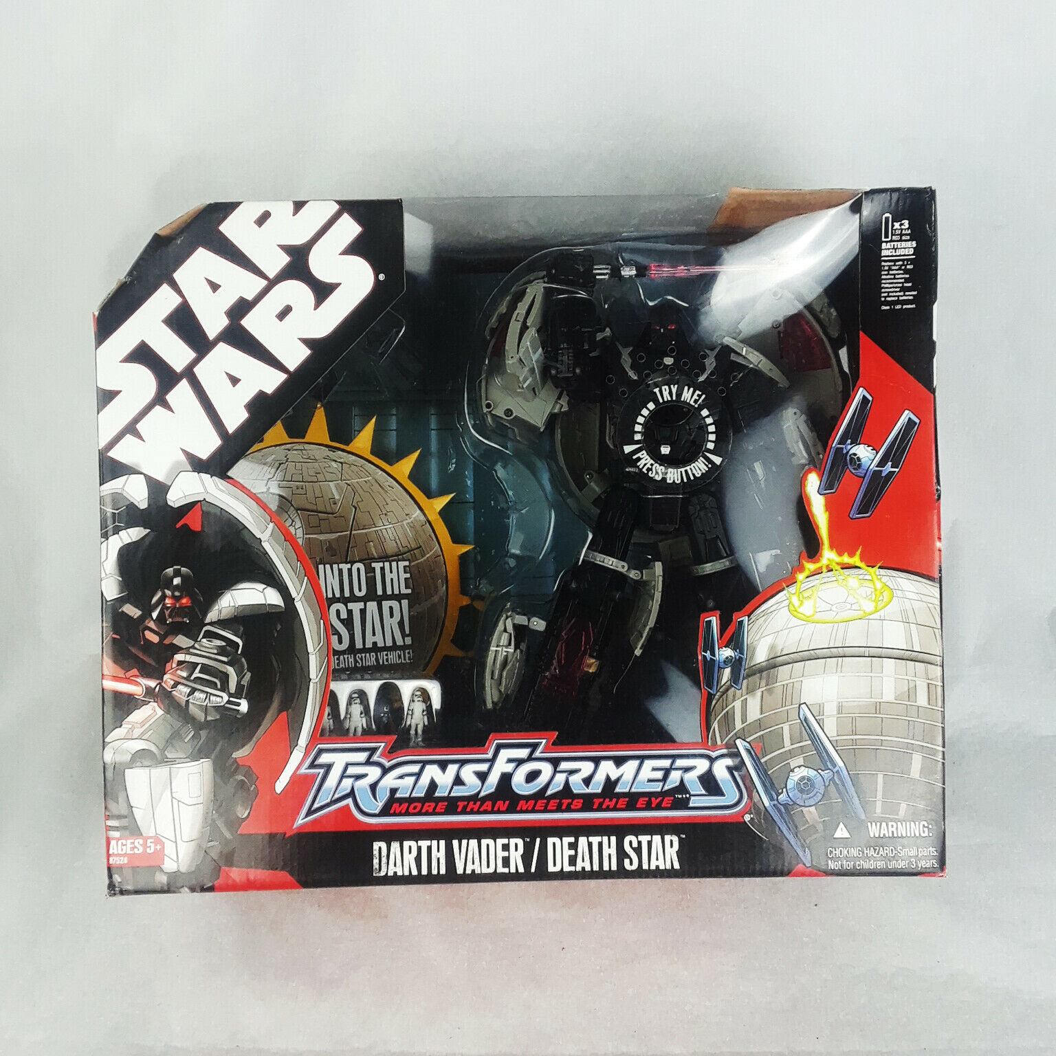Star Wars Transformers Darth Vader / Death Star Action Figure by Hasbro