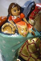 Vaillancourt Folk Art  Santa w/Gold Stripes & Toys Signed by Judi Vaillancourt image 4