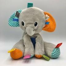 Bright Starts Taggies Elephant Infant Baby Plush Sensory Toy Lovey - $15.83