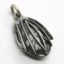Silver 925 Pendant, Burnished and Satin, Bob Cycling Jersey, Helmet image 1