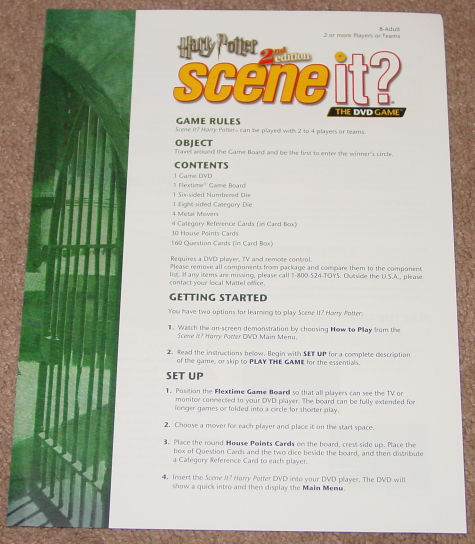 SCENE IT DVD GAME HARRY POTTER 2ND EDITION DELUXE 2007 SCREENLIFE MATTEL COMPLET image 2