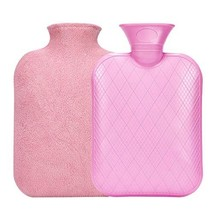 BYXAS PVC Hot Water Bottle-1.8 Liter Hot and Cold Water Bottle with Fleece Cover