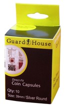 Guardhouse Silver Round 39mm Direct Fit Coin Capsules, 10 pack - $6.79