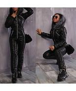 Black Ski Suit Snow Snowboard Sports Outwear Anzug Damen Snowsuit Winter... - $89.00