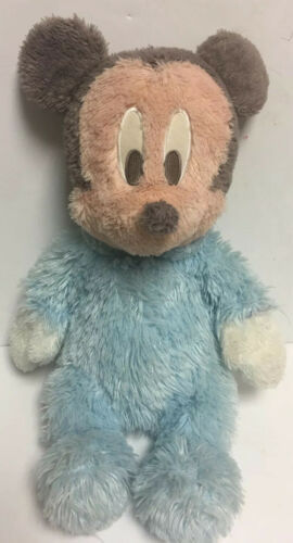 "Primary image for DISNEY 21"" MICKEY MOUSE In Pajamas Large PLUSH Frosty BLUE WHITE HTF Style"