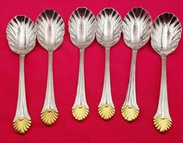 6 Vintage Seafare Reed & Barton Stainless Steel Sugar or Ice Cream Spoons #6534 - $39.00