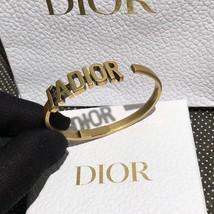 AUTH Christian Dior 2019 J'ADIOR AGED GOLD BRACELET CUFF BANGLE image 8