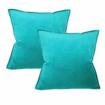 Original Pro Solid Velvet Throw Pillow Covers Set of 2 Decorative Cushion Cases