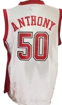 Greg Anthony #50 College Basketball Jersey Sewn White Any Size image 2