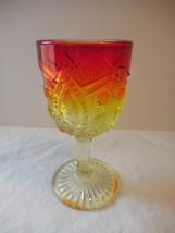 "Viking Glass Amberina Cordial 2 oz Wine Glass 4"" 1920's - $13.99"
