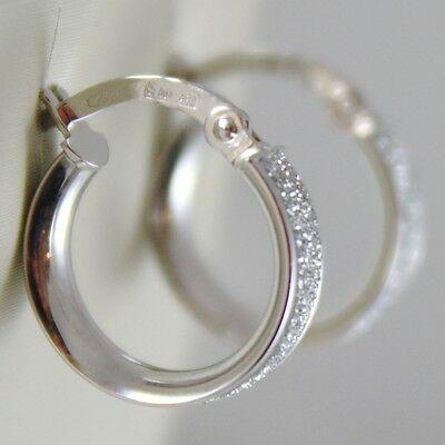 Ohrringe aus Weißgold 750 18K A Kreis, Durchmesser 1.4 CM, Effekt Glanz