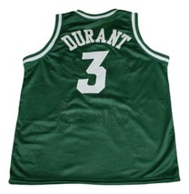Kevin Durant #3 Montrose Christian Basketball Jersey New Sewn Green Any Size image 4