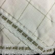 Zweigart Siveretta Christmas Tree Skirt Cream & Gold Holiday Cross Stitch 28 ct. - $44.60