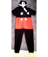 Unisex Kids Youth GAP Disney Mickey Mouse PJ One Piece Zip Up Sz 14 FLAME RESIST