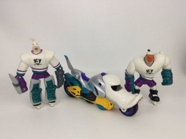 The Mighty Ducks Action Figures w Motorcycle Wildwing Grin Lot Disney Vi... - $24.90