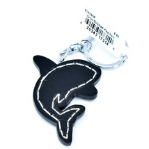 """Northwoods Layered Wood 3D Stitched Design Orca Killer Whale 1.75"""" Keychain image 2"""
