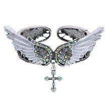 Women's Angel Wing Cross Necklace Earrings Bracelet Set image 4