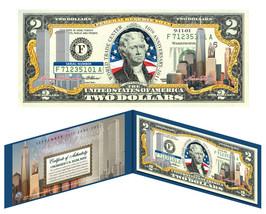 WORLD TRADE CENTER 9/11 * 10th Anniversary * Colorized $2 US Bill FREEDO... - $13.81