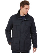 Nautica Mens Solid Parka Jacket Water Resistant True Black Size XL MyAFC - $62.99