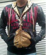 NEW Christian Audigier RBlack Hoodie Boxing Gloves Panthers RHINESTONES ... - $79.15