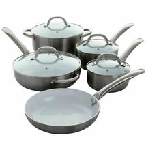 Oster Montecielo 9 Piece Aluminum Cookware Set in Metallic Titanium - $117.55