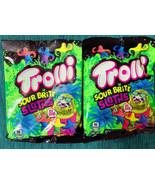 2x Trolli Sour Bright Sloths Tropical Fruit Gummi Candy 4.25 oz Exp 12/21 - $11.88