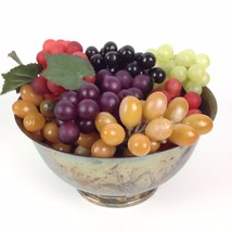 7 Bunches VTG Artificial Realistic Rubber Grapes Watson WP104 Silver Bow... - $25.34