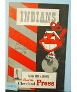1947 Cleveland Indians Baseball Program v Detroit Tigers Unscored CLV49C - $38.61