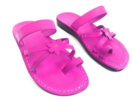 Leather Sandals for Women FLOWER by SANDALIM Biblical Greek Roman Sandals - $39.83 CAD+