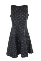 American Living By Ralph Lauren Jacquard Fit Flare Black Silver Dress - $35.41