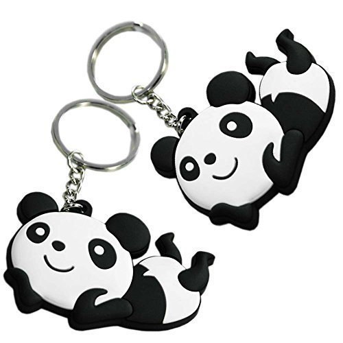 Set of 2 Lovely Panda Superstore Key Chain Portable Car Keychain Key Rings