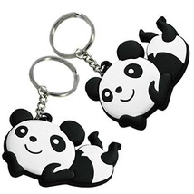 PANDA SUPERSTORE Set of 2 Lovely Key Chain Portable Car Keychain Key Rings