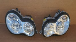03-07 Mercedes W203 C230 C280 Xenon Headlight Head Light Lamps Set L&R POLISHED