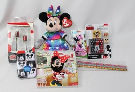 Misc. Lot Minnie & Mickey Mouse Disney Toys & More - Beanie Baby, Earbud... - $22.71