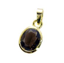 bonnie Smoky Quartz Gold Plated Brown Pendant Glass exporter US - $5.93