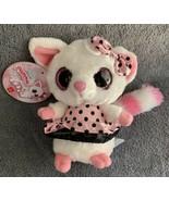 "YooHoo & Friends Aurora Fennec Fox PAMMEE Plush 5"" NWT Pink Polka Dot Dr... - $9.99"