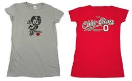 Junior Women's Ohio State Buckeyes Shirt Short Sleeve Tee T-Shirt Licensed NEW