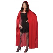 Hooded Cape Red One Size - $21.74