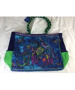 Laurel Burch Dog Canine Family OVERSIZED Bag Tote Travel Beach - $28.04