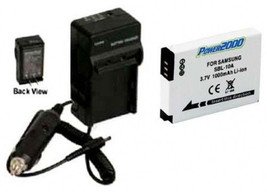 Battery + Charger For Samsung HMX-U100RN HMX-U100EN M100 M310W PL55 PL57 SL720 - $21.59