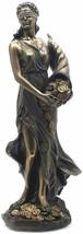 Greek Goddess Fortune/ Tyche/ Luck/ Fortuna Bronze Finish Veronese statu... - $93.95