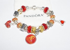 USC Trojans, College Football Red and Gold - Authentic Jared Pandora bracelet - $129.00