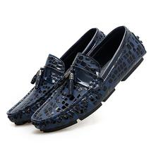 Leather Boat Gold Dress New F Male 2018 Summer Autumn Shoes Shoes Man Casual Men zq7YZdz