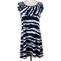 Michael Michael Kors L Large Dress Printed Scoop Smocked Ruffle Neck Abo... - $27.96