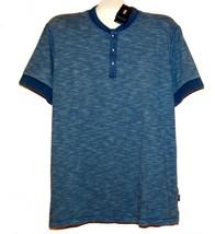 Hugo Boss Blue Striped Cotton Slim Fit Polo Men's T-Shirt 2XL New - $95.03