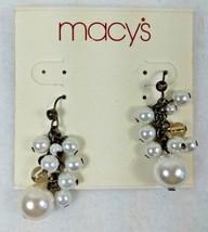 Macys Imitation Pearl Drop Dangle Earrings - NWT - $3.99