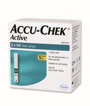 Accu Chek Active 2 X 50 Test Strips long expiry**** - $30.98