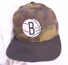 Brooklyn Nets NBA Adidas Baseball Cap Hat Camo Camouflage Basketball Embroidered - $14.80