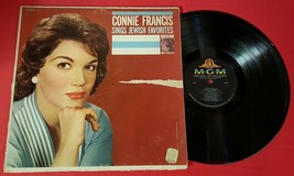 Connie Francis Sings Jewish Favorites Vinyl Record MGM E3869 Geoff Love - $5.93