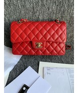 AUTH BNWT CHANEL 2019 RED CAVIAR QUILTED MEDIUM DOUBLE FLAP BAG GHW RECEIPT - $5,999.99